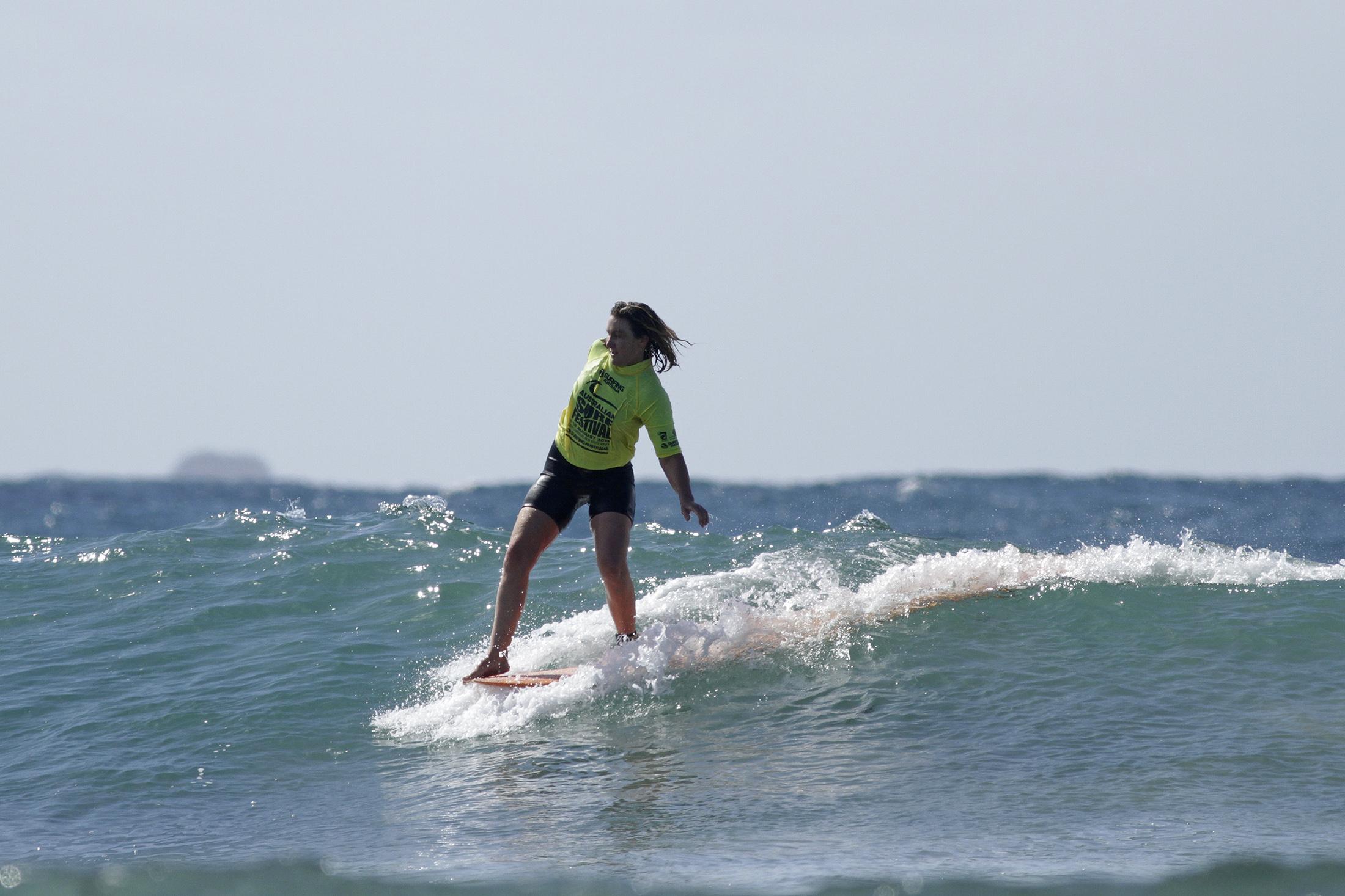 Victorian, Emma Webb Wins Open Longboards Photo: Smith