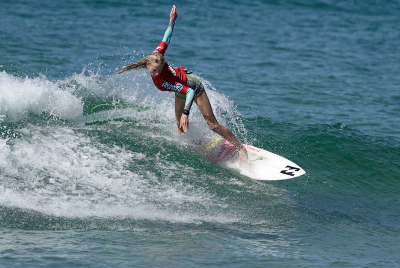 Macy Callaghan U16 champ Subway Sumer Series 1 Photo: Surfing NSW