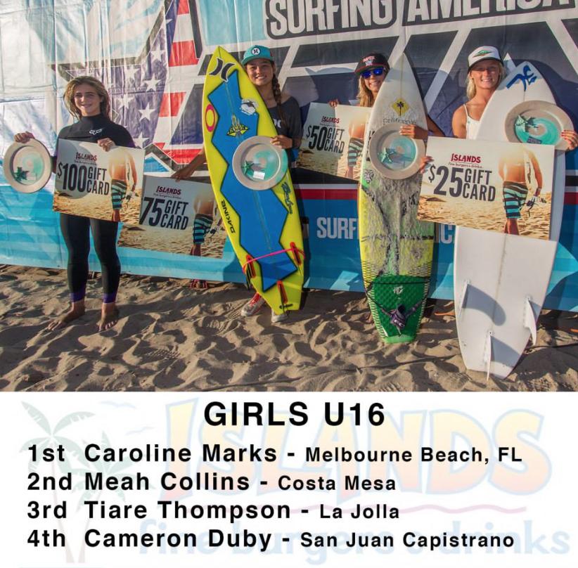 surfing america under 16 2014